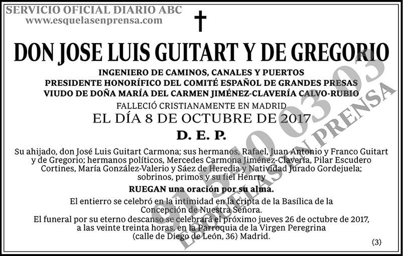 Jose Luis Guitart y de Gregorio